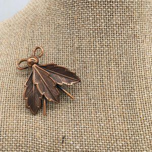 Copper Bell Vintage Copper brooch Insect